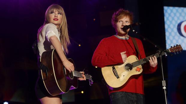 Taylor Swift and Ed Sheeran are both nominated for several AMAs (Yui Mok/PA)