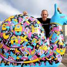DJ Norman Cook, also known as Fatboy Slim, raises money in Brighton and Hove (Gareth Fuller/PA)