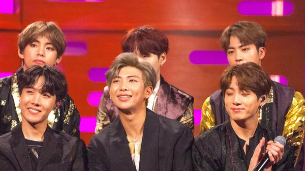 BTS on the Graham Norton Show on BBC One (PA Wire)