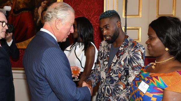 The Prince of Wales with Tinie Tempah at St James's Palace (Tim Whitby/PA)