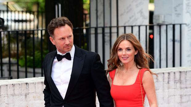Christian Horner and Geri Horner (Ian West/PA)