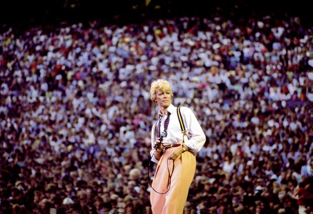David Bowie in Edmonton, Canada on the 1983 tour. Photo: Denis O'Regan