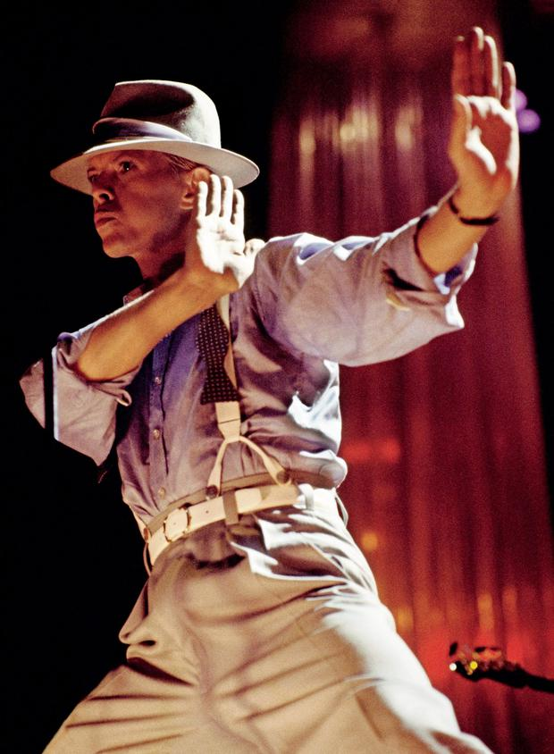 Intimate portrait: Bowie on the Let's Dance your on 1983. Photo: Denis O'Regan