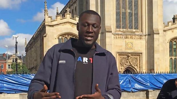 Stormzy speaking about his scholarship (Cambridge University)