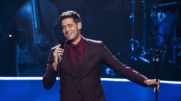 Michael Buble battles Mumford and Sons and Little Mix for the number one album (David Jensen/PA)