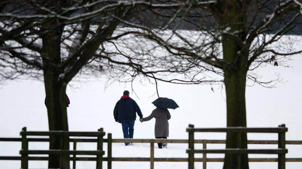 The duet includes lines where a man tries to convince his female guest not to risk a journey home in bad weather (Neil Squires/PA)