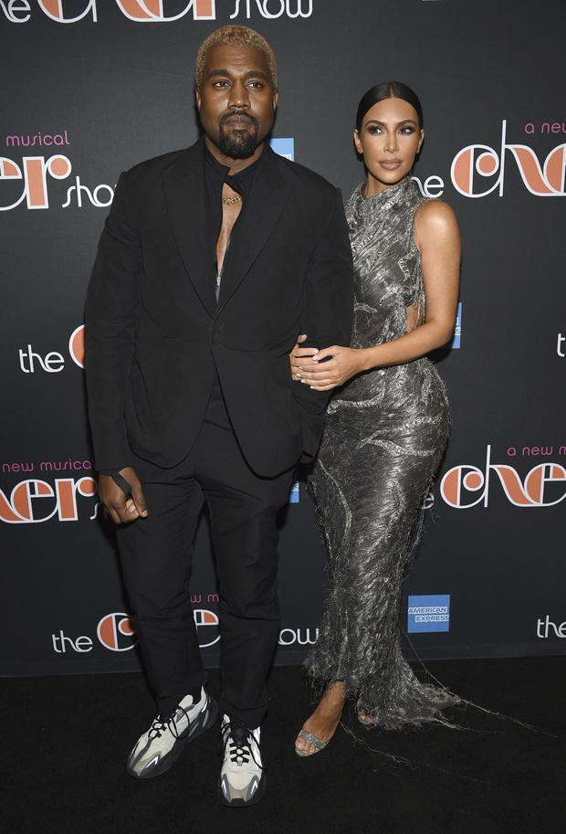 211696355 Kanye West and Kim Kardashian West attend the opening night of The Cher  Show on Broadway (Evan Agostini/Invision/AP)