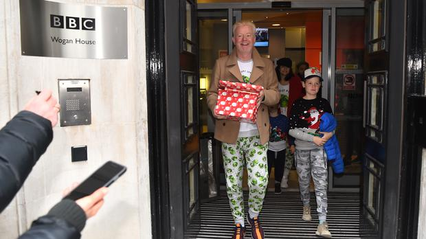 Chris Evans leaves Wogan House in London (Kirsty O'Connor/PA)