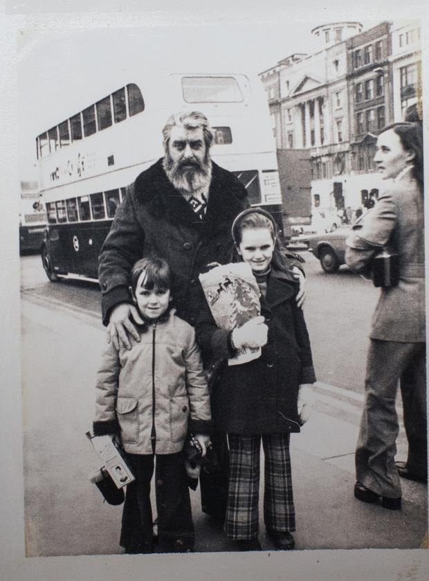 Phelim with his sister Cliodhna and their dad