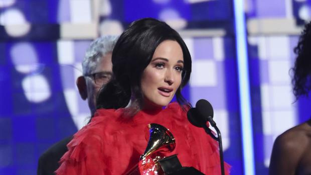 Kacey Musgraves won the prize for album of the year for Golden Hour at the 61st annual Grammy Awards (Matt Sayles/Invision/AP)