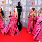 Leigh-Anne Pinnock, Jesy Nelson, Perrie Edwards and Jade Thirlwall of Little Mix with their Best British Video Brit Award in the press room at the Brit Awards 2019 at the O2 Arena, London. PRESS ASSOCIATION PHOTO. Picture date: Wednesday February 20, 2019. See PA story SHOWBIZ Brits. Photo credit should read: Ian West/PA Wire. EDITORIAL USE ONLY.