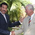 The Prince of Wales meeting singer Lionel Richie (Jane Barlow/PA)
