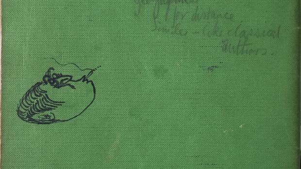 A school exercise book which belonged to Paul McCartney is up for sale (Omega Auctions/PA)