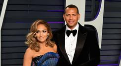 Jennifer Lopez and Alex Rodriguez (Ian West/PA)