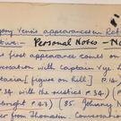 Sir Paul McCartney's English literature notebook (Omega Auctions)