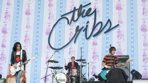 The Cribs perform live on stage at the Isle of Wight Festival, Seaclose park, Newport Isle of Wight (David Jensen/PA)