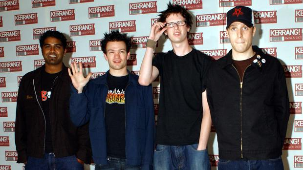 Sum 41 arriving at the Hilton Park Lane Hotel in London for the Kerrang! Awards (Yui Mok/PA)
