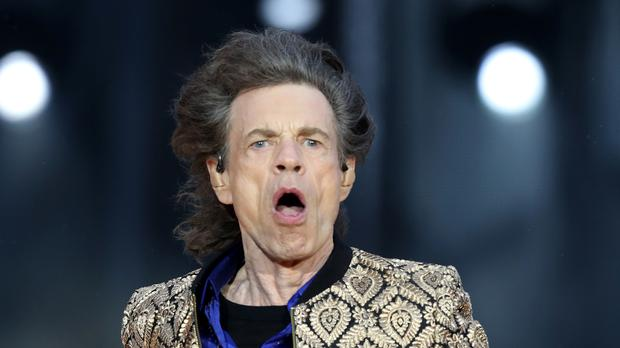 Sir Mick Jagger on stage (Jane Barlow/PA)