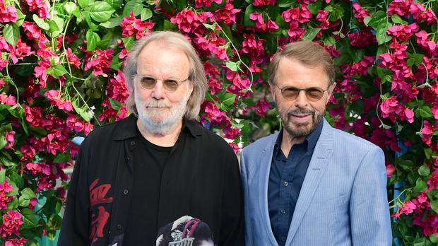 Benny Andersson and Bjorn Ulvaeus appeared on stage (Ian West/PA)