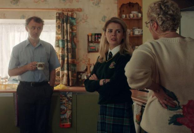 Tommy Tiernan (left) starring in Derry Girls