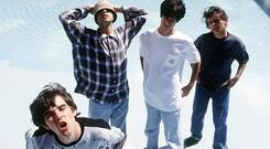 First coming: The Stone Roses' Brown, Reni, Squire and Mani in 1989