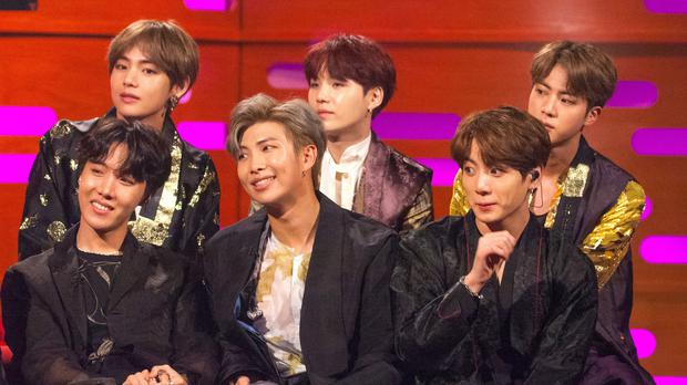 K-pop superstars BTS channelled The Beatles on The Late Show With Stephen Colbert (Tom Haines/PA)