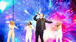 The UK's Michael Rice at the Eurovision Song Contest in Israel (Andres Putting/PA)