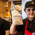 Lewis Capaldi serves up Greggs in Middlesbrough (Greggs/PA)