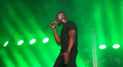 Stormzy performs during BBC Radio 1's Big Weekend at Stewart Park, Middlesbrough (Owen Humphreys/PA)