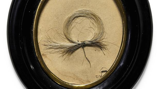 A lock of Beethoven's hair (Sotheby's)