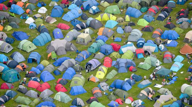 Tents during the Glastonbury Festival at Worthy Farm (Ben Birchall/PA)