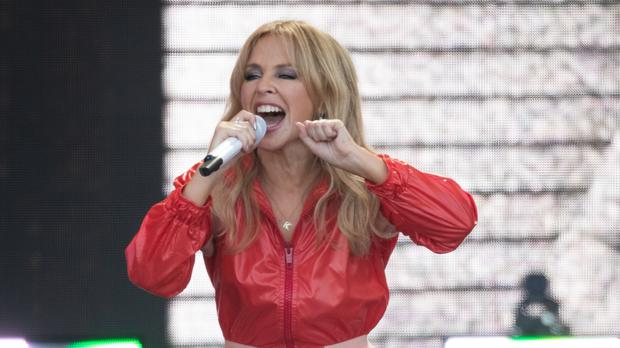 Kylie Minogue is on course for a number one album after Glastonbury (Aaron Chown/PA)