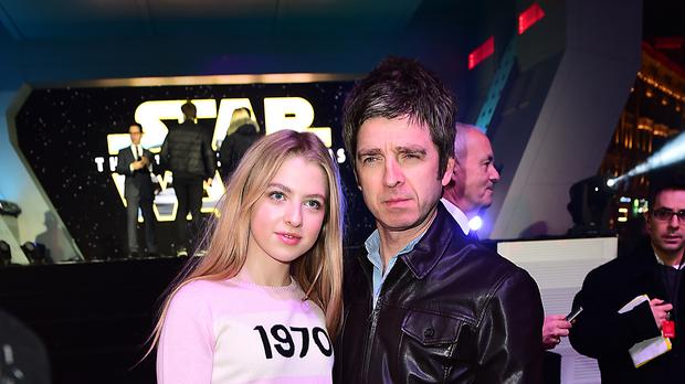 Noel Gallagher and his daughter Anais (Ian West/PA)