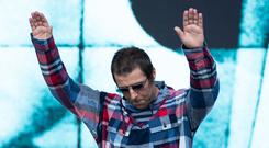 Liam Gallagher on the Pyramid Stage during the Glastonbury Festival, at Worthy Farm in Pilton, Somerset (Aaaron Chown/PA)