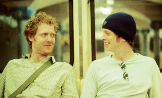 Bond: Christopher with Glen Hansard, one of the singer's friends who features in the documentary (Photo: Patrick Glennon)