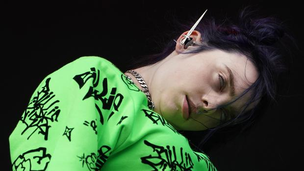 Billie Eilish (Owen Humphreys/PA)