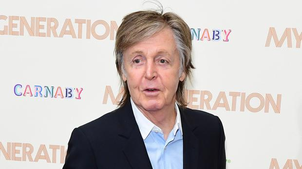 Paul McCartney is writing a stage musical of It's A Wonderful Life (Ian West/PA)