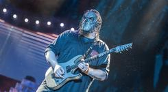 Slipknot knock Ed Sheeran off top spot to score first number one in 18 years (Katja Ogrin/PA)
