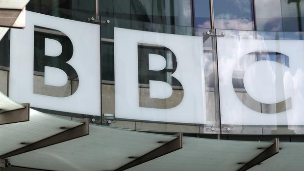 A view of the BBC New Broadcasting House sign in central London (Jonathan Brady/PA)