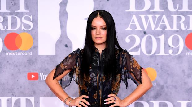 Lily Allen attending the Brit Awards (Ian West/PA)