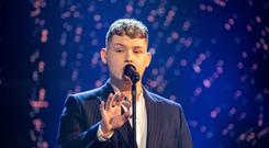 Michael Rice who won the public vote to represent the UK at the Eurovision Song Contest in Israel (Guy Levy/BBC/PA)