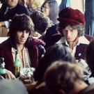 End of a flower power: Mick Taylor, Keith Richards and Mick Jagger from The Rolling Stones in Hamburg