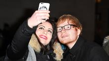 Mystery surrounds the mark on Ed Sheeran's face