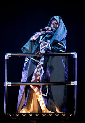 Grace Jones on the main stage. Photo: Michael Donnelly