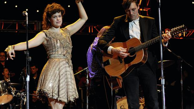 'I just need to dance' — Regine Chassagne and her husband, Win Butler, onstage