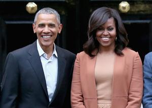 Barack Obama and his wife Michelle welcomed the singer (Chris Jackson/PA)