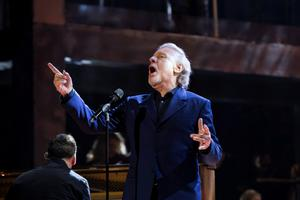 Legend: Colm Wilkinson performs U2's 'One' for RTE's Centenary concert on Easter Monday.