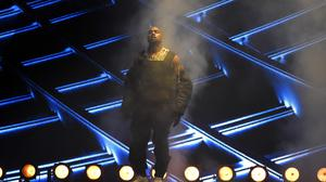 Kanye West performs at the Billboard Music Awards at the MGM Grand Garden Arena in Las Vegas. (Chris Pizzello/Invision/AP)