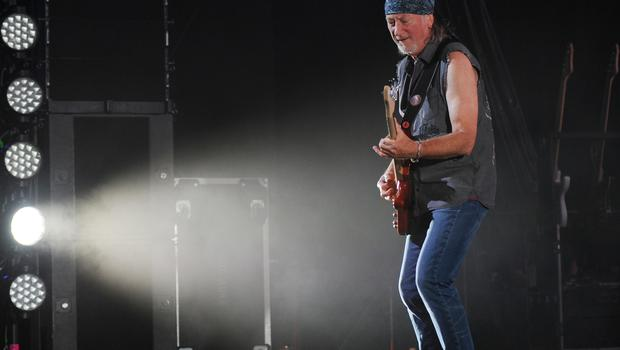 Bassist Roger Glover of Deep Purple performs on the final night of the 2014 Tour at the Seminole Hotel and Casinos Hard Rock Live on August 31, 2014 in Hollywood, Florida. (Photo by Jeff Daly/Invision/AP)