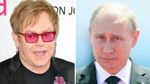 It's true this time - Sir Elton John, left, has spoken to Vladimir Putin after the singer was tricked by a prank phone call from two Russian comedians